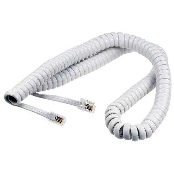 4 м | Шнур телефонной трубки с разъёмами 4P4C