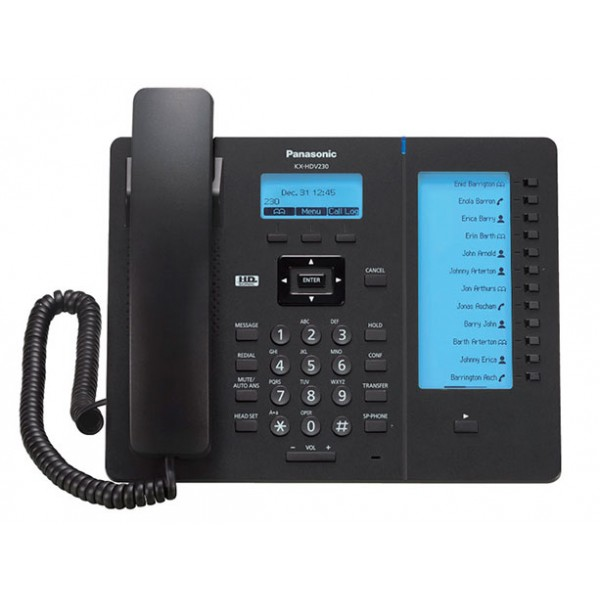 Проводной SIP телефон Panasonic KX-HDV230